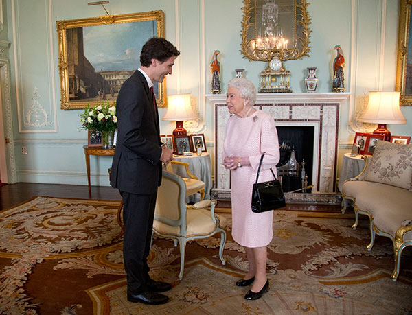 "<div class=""meta image-caption""><div class=""origin-logo origin-image none""><span>none</span></div><span class=""caption-text"">Prime Minister of Canada Justin Trudeau meets Britain's Queen Elizabeth II during a private audience at Buckingham Palace, London, Wednesday Nov. 25, 2015. (Yui Mok/Pool via AP)</span></div>"