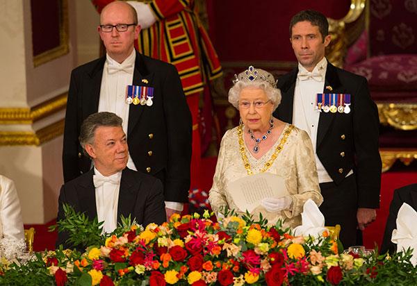 "<div class=""meta image-caption""><div class=""origin-logo origin-image none""><span>none</span></div><span class=""caption-text"">Britain's Queen Elizabeth II makes a speech as Colombia's president Juan Manuel Santos, left, listens during a state banquet at Buckingham Palace in London, Tuesday Nov. 1, 2016 (Dominic Lipinski/AP Photo)</span></div>"