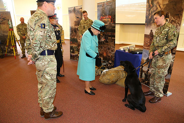 "<div class=""meta image-caption""><div class=""origin-logo origin-image none""><span>none</span></div><span class=""caption-text"">Britain's Queen Elizabeth II meets members during a visit to the Corps of Royal Engineers at Brompton Barrack in Chatham, Kent, England, Thursday Oct. 13, 2016. (Gareth Fuller/AP Photo)</span></div>"
