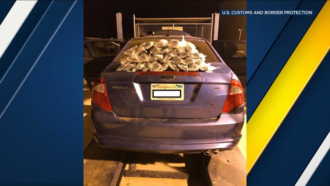 Packages containing methamphetamine were found in a car gas tank by Border Patrol agents at the Highway 86 checkpoint in Salton City on Monday, Feb. 6, 2017.