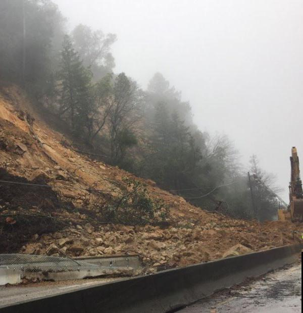 <div class='meta'><div class='origin-logo' data-origin='none'></div><span class='caption-text' data-credit='KGO-TV'>A landslide is seen on Highway 17 near Scotts Valley, Calif. on Tuesday February 7, 2017.</span></div>