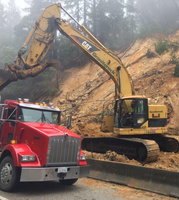 <div class='meta'><div class='origin-logo' data-origin='none'></div><span class='caption-text' data-credit='KGO-TV'>A landslide is seen on Highway 17 near Scotts Valley, Calif. on Tuesday February 7, 2017.</span></div>