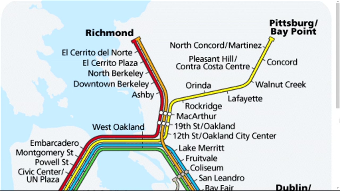 A map shows East Bay BART lines.