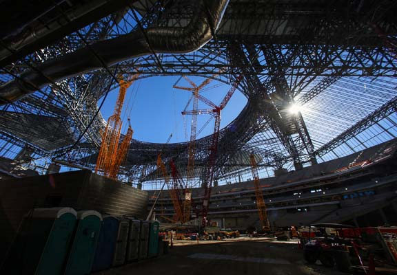 "<div class=""meta image-caption""><div class=""origin-logo origin-image ap""><span>AP</span></div><span class=""caption-text"">Construction of the new Mercedes Benz Stadium for the Atlanta Falcons, Friday, Dec. 2, 2016, in Atlanta. (AP Photo/Butch Dill) (AP)</span></div>"
