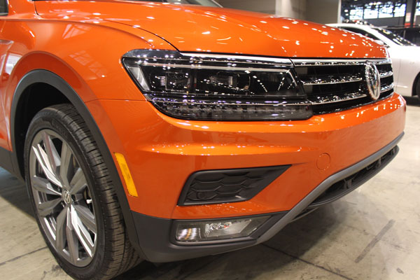 "<div class=""meta image-caption""><div class=""origin-logo origin-image wls""><span>WLS</span></div><span class=""caption-text"">Front detail on the all-new 2018 Volkswagen Tiguan debuts at the Concept and Technology Garage event at the 2017 Chicago Auto Show on Feb. 8, 2017.</span></div>"