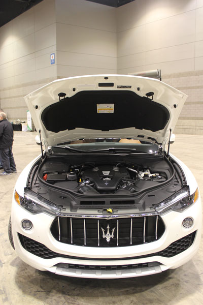 "<div class=""meta image-caption""><div class=""origin-logo origin-image wls""><span>WLS</span></div><span class=""caption-text"">Under the hood of the all-new 2017 Maserati Levante at the Concept and Technology Garage event at the 2017 Chicago Auto Show on Feb. 8, 2017.</span></div>"