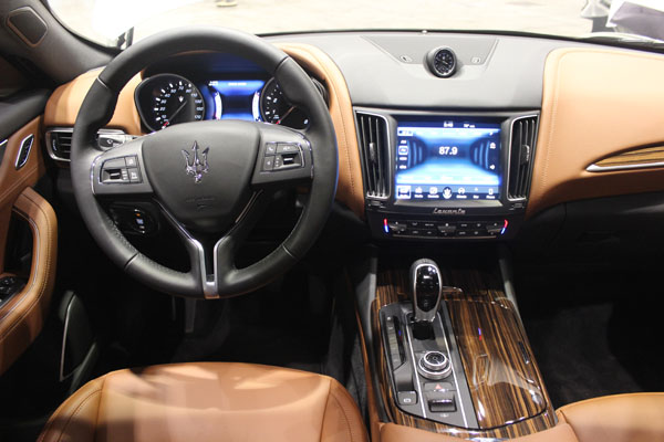 "<div class=""meta image-caption""><div class=""origin-logo origin-image wls""><span>WLS</span></div><span class=""caption-text"">Interior view of the all-new 2017 Maserati Levante at the Concept and Technology Garage event at the 2017 Chicago Auto Show on Feb. 8, 2017.</span></div>"