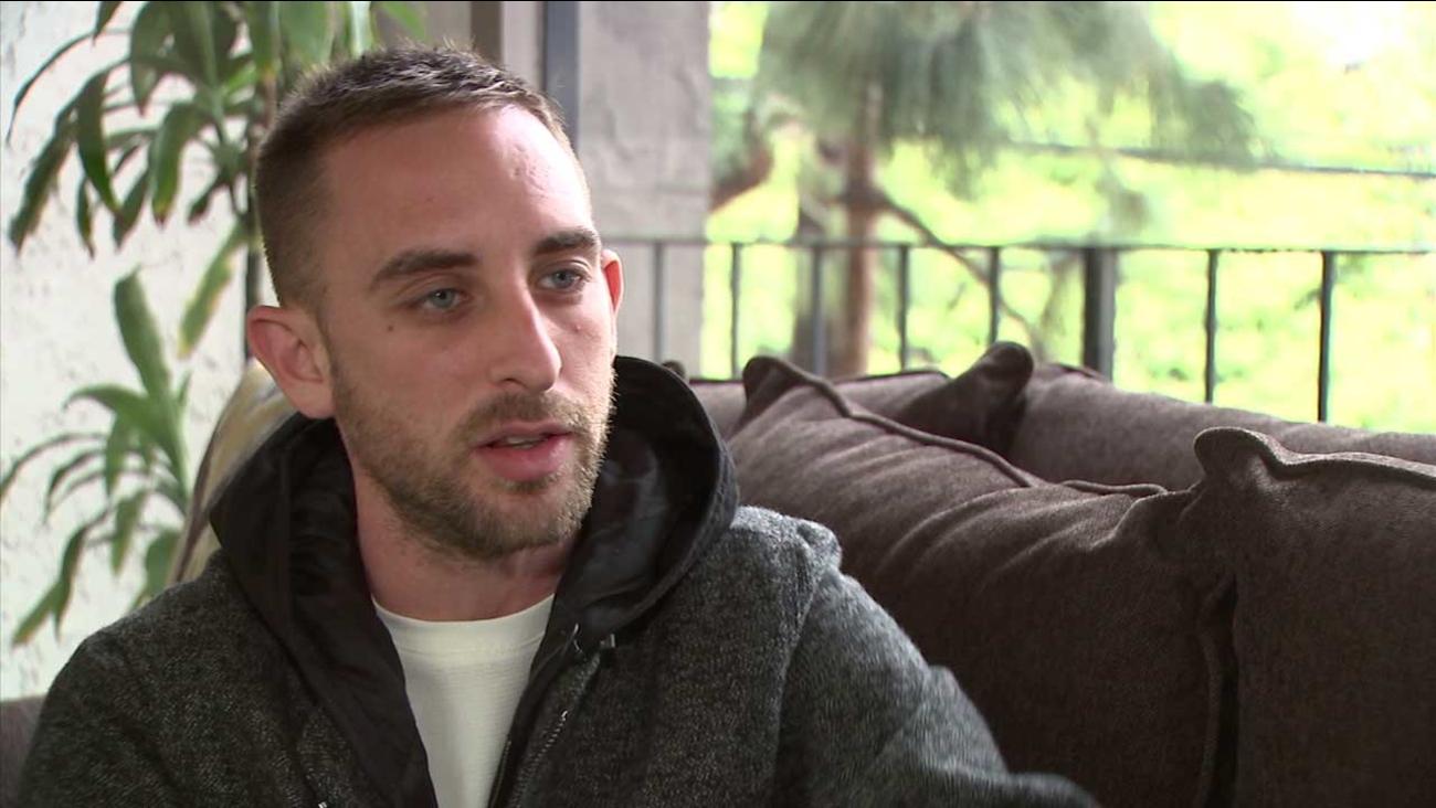 Andrew Weisbarth is seen speaking to Eyewitness News in an interview.
