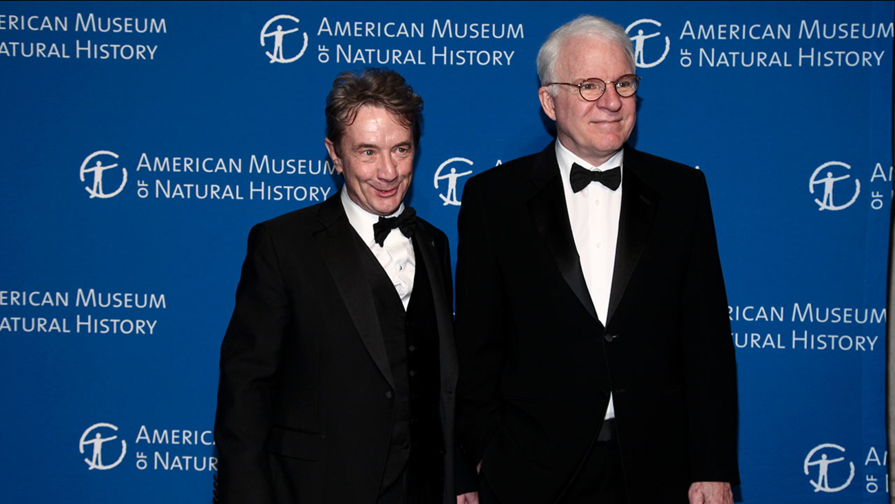 Martin Short, left, and Steve Martin, right, attend the American Museum of Natural History's Museum Gala on Thursday, Nov. 17, 2016, in New York.