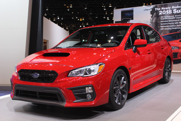 <div class='meta'><div class='origin-logo' data-origin='WLS'></div><span class='caption-text' data-credit=''>The 2018 Subaru WRX on display at the 2017 Chicago Auto Show on Feb. 9, 2017.</span></div>