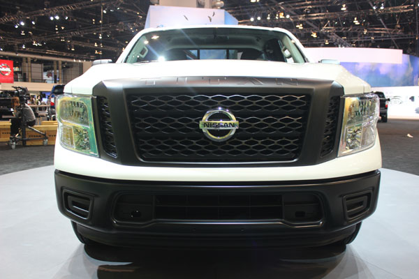 "<div class=""meta image-caption""><div class=""origin-logo origin-image wls""><span>WLS</span></div><span class=""caption-text"">Front view of the 2017 Nissan Titan on display at the 2017 Chicago Auto Show on Feb. 9, 2017.</span></div>"