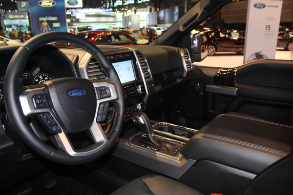 "<div class=""meta image-caption""><div class=""origin-logo origin-image wls""><span>WLS</span></div><span class=""caption-text"">Interior of the 2018 Ford F-150 on display at the 2017 Chicago Auto Show on Feb. 9, 2017.</span></div>"