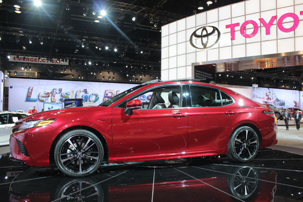 "<div class=""meta image-caption""><div class=""origin-logo origin-image wls""><span>WLS</span></div><span class=""caption-text"">The 2018 Toyota Camry on display at the 2017 Chicago Auto Show on Feb. 9, 2017.</span></div>"