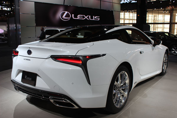 <div class='meta'><div class='origin-logo' data-origin='WLS'></div><span class='caption-text' data-credit=''>The 2018 Lexus LC500h on display at the 2017 Chicago Auto Show on Feb. 9, 2017.</span></div>