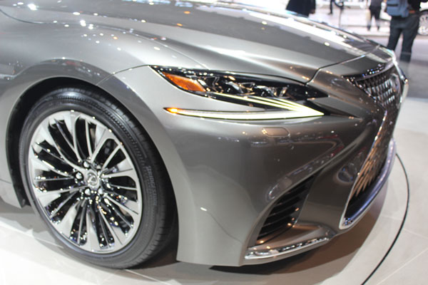 <div class='meta'><div class='origin-logo' data-origin='WLS'></div><span class='caption-text' data-credit=''>Close-up on the 2018 Lexus LS500 on display at the 2017 Chicago Auto Show on Feb. 9, 2017.</span></div>