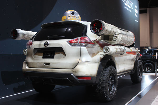 "<div class=""meta image-caption""><div class=""origin-logo origin-image wls""><span>WLS</span></div><span class=""caption-text"">The Nissan Rogue One Star Wars Limited Edition Rogue - with functioning droid - on display at the 2017 Chicago Auto Show on Feb. 9, 2017.</span></div>"