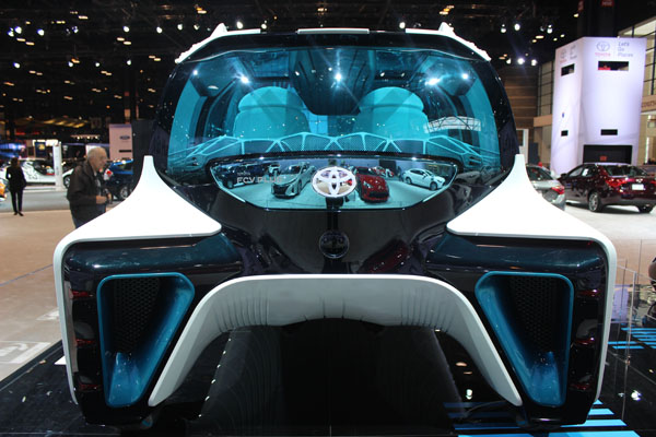 <div class='meta'><div class='origin-logo' data-origin='WLS'></div><span class='caption-text' data-credit=''>Rear view of the Toyota FCV Plus - a hydrogen fuel cell vehicle - on display at the 2017 Chicago Auto Show on Feb. 10, 2017.</span></div>