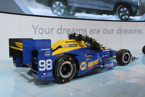 "<div class=""meta image-caption""><div class=""origin-logo origin-image wls""><span>WLS</span></div><span class=""caption-text"">The Honda race car that won the 2016 Indianapolis 500 on display at the 2017 Chicago Auto Show on Feb. 9, 2017.</span></div>"