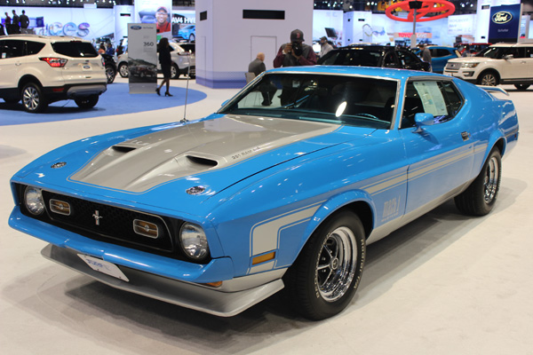 <div class='meta'><div class='origin-logo' data-origin='WLS'></div><span class='caption-text' data-credit=''>A 1971 Ford Mustang Mach1 Sportsroof at the 2017 Chicago Auto Show on Feb. 10, 2017.</span></div>