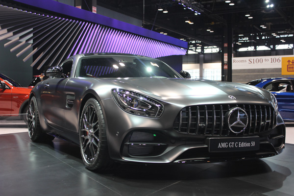 "<div class=""meta image-caption""><div class=""origin-logo origin-image wls""><span>WLS</span></div><span class=""caption-text"">The 2018 Mercedes-AMG GT C Edition 50 on display at the 2017 Chicago Auto Show on Feb. 10, 2017.</span></div>"