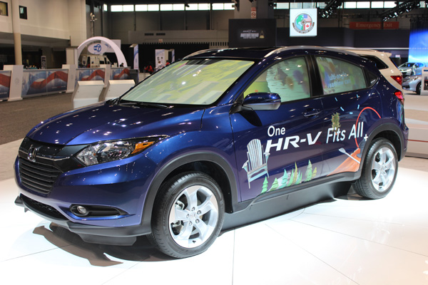 <div class='meta'><div class='origin-logo' data-origin='WLS'></div><span class='caption-text' data-credit=''>The 2017 Honda HR-V on display at the 2017 Chicago Auto Show on Feb. 10, 2017.</span></div>