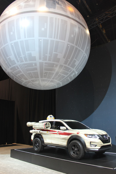 <div class='meta'><div class='origin-logo' data-origin='WLS'></div><span class='caption-text' data-credit=''>The Death Star hovers over the Nissan Rogue One Star Wars Limited Edition Rogue on display at the 2017 Chicago Auto Show on Feb. 9, 2017.</span></div>