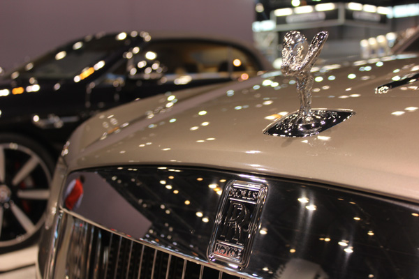 <div class='meta'><div class='origin-logo' data-origin='WLS'></div><span class='caption-text' data-credit=''>Hood ornament on the Rolls-Royce Dawn on display at the 2017 Chicago Auto Show on Feb. 10, 2017.</span></div>