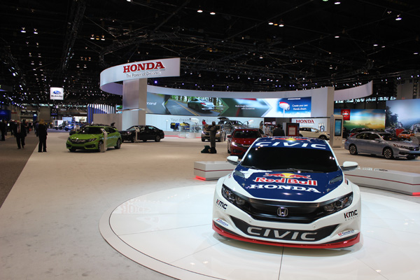 <div class='meta'><div class='origin-logo' data-origin='WLS'></div><span class='caption-text' data-credit=''>The Honda display at the 2017 Chicago Auto Show on Feb. 10, 2017.</span></div>