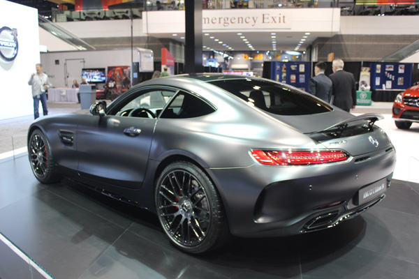 "<div class=""meta image-caption""><div class=""origin-logo origin-image wls""><span>WLS</span></div><span class=""caption-text"">Rear view of the 2018 Mercedes-AMG GT C Edition 50 on display at the 2017 Chicago Auto Show on Feb. 10, 2017.</span></div>"