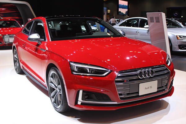 "<div class=""meta image-caption""><div class=""origin-logo origin-image wls""><span>WLS</span></div><span class=""caption-text"">The 2018 Audi S5 at the 2017 Chicago Auto Show on Feb. 10, 2017.</span></div>"
