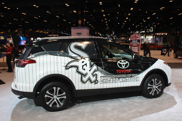 "<div class=""meta image-caption""><div class=""origin-logo origin-image wls""><span>WLS</span></div><span class=""caption-text"">The Chicago White Sox Toyota RAV4 on display at the 2017 Chicago Auto Show on Feb. 10, 2017.</span></div>"