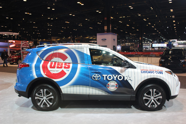 <div class='meta'><div class='origin-logo' data-origin='WLS'></div><span class='caption-text' data-credit=''>The Chicago Cubs Toyota RAV4 on display at the 2017 Chicago Auto Show on Feb. 10, 2017.</span></div>