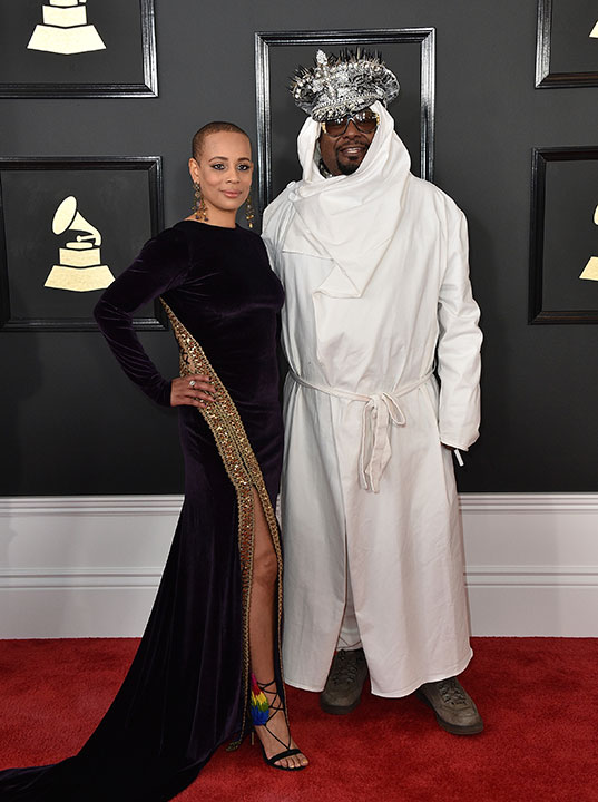 "<div class=""meta image-caption""><div class=""origin-logo origin-image none""><span>none</span></div><span class=""caption-text"">Carlon Thompson-Clinton, left, and George Clinton arrive at the 59th annual Grammy Awards at the Staples Center on Sunday, Feb. 12, 2017, in Los Angeles. (Jordan Strauss/Invision/AP)</span></div>"