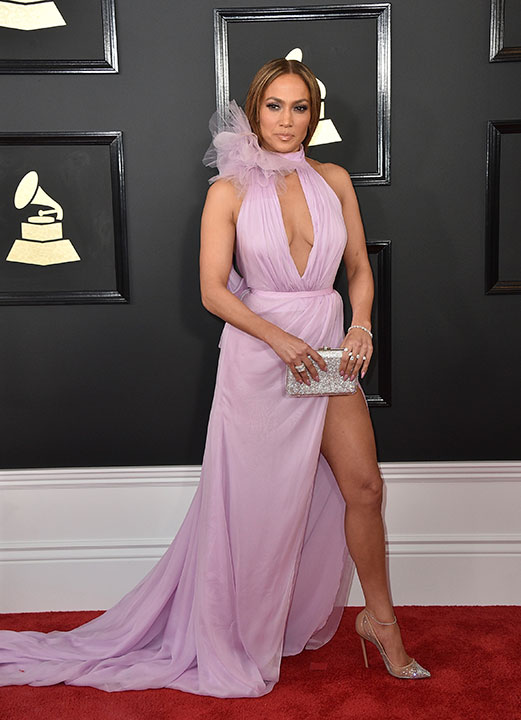 "<div class=""meta image-caption""><div class=""origin-logo origin-image none""><span>none</span></div><span class=""caption-text"">Jennifer Lopez arrives at the 59th annual Grammy Awards at the Staples Center on Sunday, Feb. 12, 2017, in Los Angeles. (Jordan Strauss/Invision/AP)</span></div>"