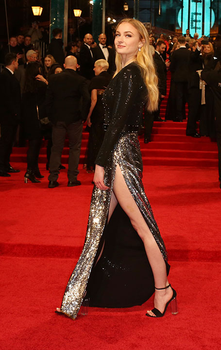 "<div class=""meta image-caption""><div class=""origin-logo origin-image none""><span>none</span></div><span class=""caption-text"">Sophie Turner arrives at the British Academy Film Awards in London, Sunday, Feb. 12, 2017. (Joel Ryan/Invision/AP)</span></div>"
