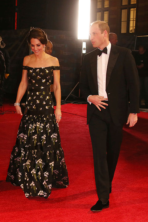 <div class='meta'><div class='origin-logo' data-origin='none'></div><span class='caption-text' data-credit='Joel Ryan/Invision/AP'>Princess Kate and Prince William arrive at the British Academy Film Awards in London, Sunday, Feb. 12, 2017.</span></div>