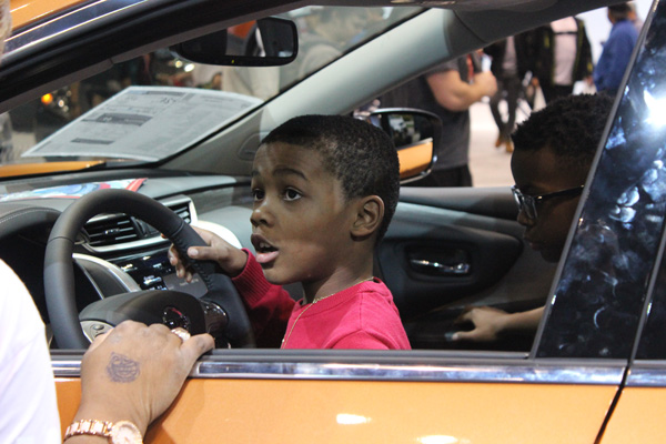 "<div class=""meta image-caption""><div class=""origin-logo origin-image wls""><span>WLS</span></div><span class=""caption-text"">A young boy behind the wheel of the 2017 Nissan Rogue Sport at the 2017 Chicago Auto Show at McCormick Place on Feb. 11, 2017.</span></div>"