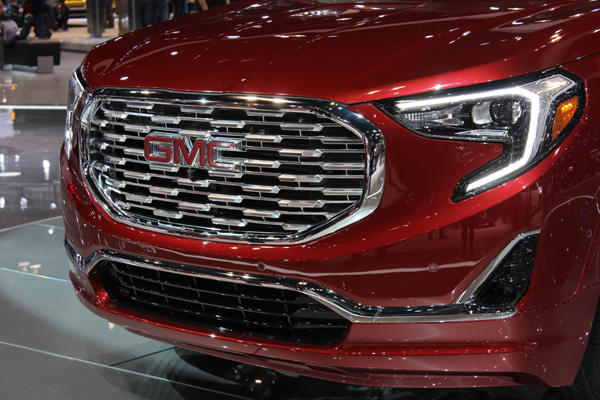 <div class='meta'><div class='origin-logo' data-origin='WLS'></div><span class='caption-text' data-credit=''>Front detail on the all-new 2018 GMC Terrain at the 2017 Chicago Auto Show at McCormick Place on Feb. 11, 2017.</span></div>