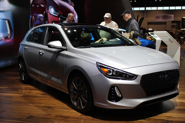 <div class='meta'><div class='origin-logo' data-origin='WLS'></div><span class='caption-text' data-credit=''>The 2018 Hyundai Elantra GT at the 2017 Chicago Auto Show on February 13, 2017.</span></div>