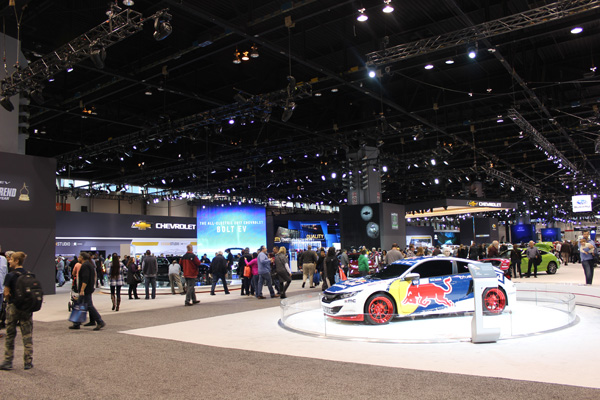 "<div class=""meta image-caption""><div class=""origin-logo origin-image wls""><span>WLS</span></div><span class=""caption-text"">The Chevy and Honda exhibits at the 2017 Chicago Auto Show on February 13, 2017.</span></div>"