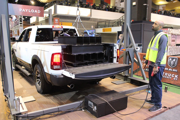 "<div class=""meta image-caption""><div class=""origin-logo origin-image wls""><span>WLS</span></div><span class=""caption-text"">Payload test at the RAM Truck Territory at the 2017 Chicago Auto Show on Feb. 13, 2017.</span></div>"