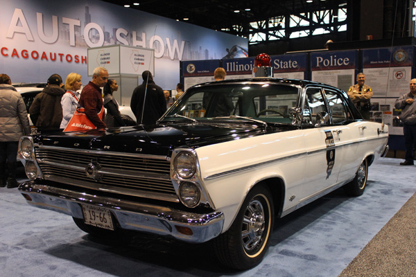 <div class='meta'><div class='origin-logo' data-origin='WLS'></div><span class='caption-text' data-credit=''>A vintage Ford Fairlane Illinois State Police cruiser at the 2017 Chicago Auto Show on Feb. 13, 2017.</span></div>