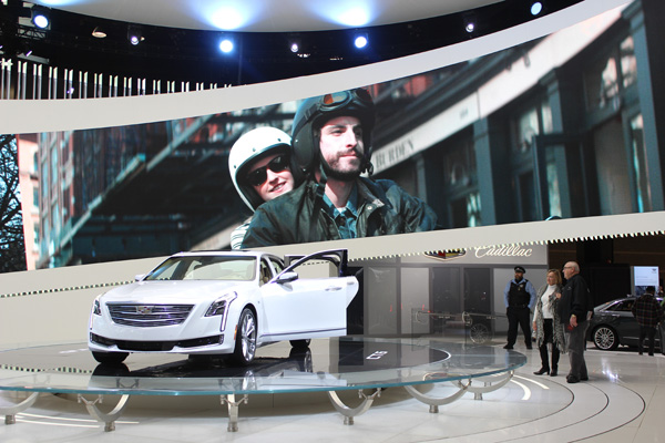 <div class='meta'><div class='origin-logo' data-origin='WLS'></div><span class='caption-text' data-credit=''>The Cadillac exhibit at the 2017 Chicago Auto Show on Feb. 13, 2017.</span></div>