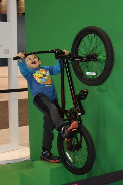 <div class='meta'><div class='origin-logo' data-origin='WLS'></div><span class='caption-text' data-credit=''>A young boy poses for Toyota's Action Photo Op at the 2017 Chicago Auto Show on Feb. 13, 2017.</span></div>