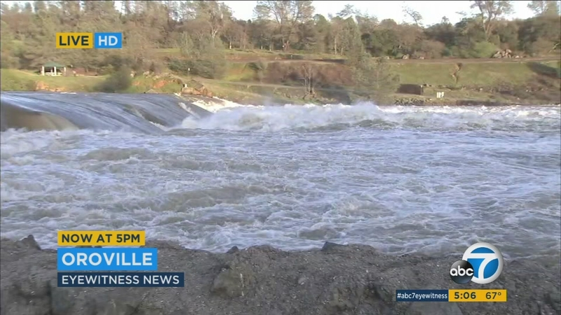 Mandatory evacuations lifted in Oroville Dam area