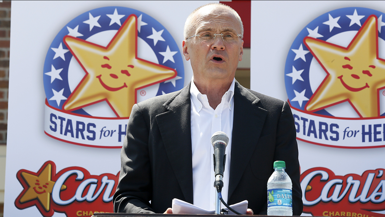 CKE Restaurants CEO Andy Puzder is withdrawing his name from labor secretary consideration.