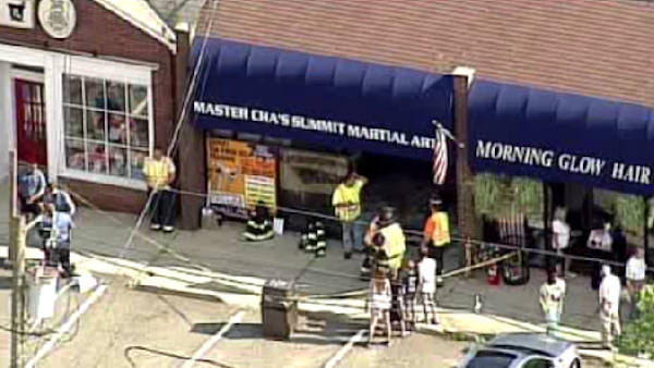 """<div class=""""meta image-caption""""><div class=""""origin-logo origin-image """"><span></span></div><span class=""""caption-text"""">A car drove into a martial arts dojo in Waldwick, New Jersey.  It happened at 4:30 p.m. on Thursday.  It was closed at the time and no one was injured. (WABC Photo/ WABC)</span></div>"""
