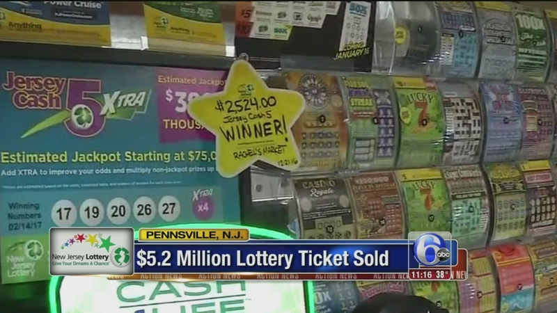 $5 2 million lottery ticket sold in Salem County, N J  | 6abc com