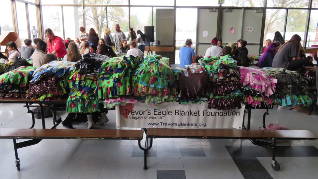 Hand-made blankets arrived at UCSF Benioff Children's Hospital in Oakland, Calif. on Thursday, Feb. 16, 2017.