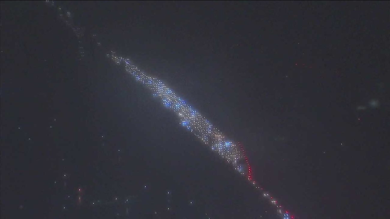 Traffic was at a standstill on the westbound SR-22 in Westminster following a fatal crash on Monday, Feb. 20, 2017.